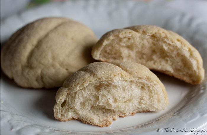 Melonpan Recipe Melon Bread The Delectable Hodgepodge